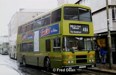 Dublin Bus RA236 (95D236). (Fred Dean Jnr) Tags: dublinbustwotonegreenlivery busathacliath dublinbus dublinbusroute48a dbrook volvo olympian alexander r ra236 95d236 hawkinsstreetdublin april1998 m395jgb