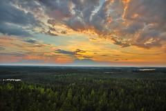 Käskyvuori landscape (Arttu Uusitalo) Tags: landscape evening sunset saturday summer finland pirkanmaa kaskyvuori clouds woods forest colorful canon eos 5d mkiv 2470