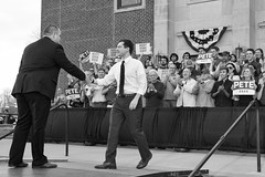 IMG_5750_0419 (mfhiatt) Tags: politics desmoines iowa blackandwhite photojournalism documentary campaign rally caucus 2020 election president democrat petebuttigieg buttigieg mayor pete