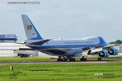 Air Force One 3 June 2019 London Stansted Donald Trump State Visit VC25 29000 (bananamanuk79) Tags: planewatch pictures aviation airplane airport london flying flight runway air travel transport pilot avgeek airways takeoff departure flyer vehicle outdoor airliner jet jetliner flyers travelling jumbo logo livery painted airplanes aicraft photos airline airliners airlines trump donald uk visit president us force marines trumpuk state one stansted boeing vc25a