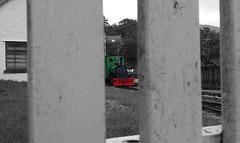 Through the Fence (MylesBeevor) Tags: dolbadarn steam loco saddle tank locomotive llanberis lake railway llr llyn padarn quarry hunslet welsh wales engine train trains cymru uk dinorwic snowdonia narrow gauge
