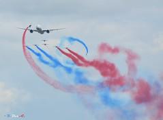 La Patrouille de France (B. Dur-C.) Tags: show france de la air airshow boeing airfrance paf lafertéalais patrouille 777er lapatrouilledefrance
