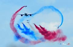 La Patrouille de France (B. Dur-C.) Tags: la patrouille de france lapatrouilledefrance paf boeing 777er lafertéalais airshow air show airfrance