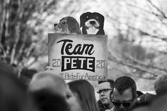 IMG_5724_0419 (mfhiatt) Tags: politics desmoines iowa blackandwhite photojournalism documentary campaign rally caucus 2020 election president democrat petebuttigieg buttigieg mayor pete