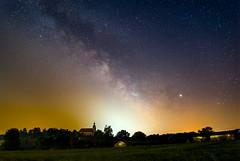 Milky Way above a church (pasiak75) Tags: 2019 milkyway drogamleczna samyang24f15 słup sequator astrophotography astrofotografia color gwiazdy kolor krajobraz landscape manuallens night miasto sky outdoor noc stack sonya7s stars jupiter