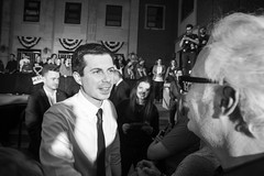 IMG_6487_0419 (mfhiatt) Tags: politics desmoines iowa blackandwhite photojournalism documentary campaign rally caucus 2020 election president democrat petebuttigieg buttigieg mayor pete