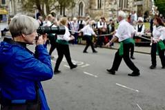 TakingTheShot (Hodd1350) Tags: wimborne wimborneminster wimbornefolkfestival dorset morrisdancers photographer dancing takingtheshot blue woman female leica leicaq