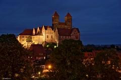 Quedlinburg Nightline (hherrlich) Tags: quedlinburg harz stiftskirche heinrichi stadt geschichte kirche deutschland sachsenanhalt hherrlich hergenweyrich nightline langzeitbelichtung