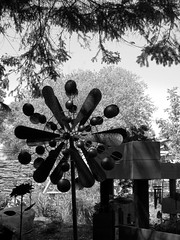 Metallic Fantasies (jadedirishgryphon) Tags: metalwork metalsculpture bw bookwormgardens sheboygan wisconsin