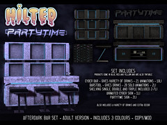 HILTED - Afterdark Bar Set (HILTED) Tags: hilted roleplay bar scifi cyber cyberpunk drinks booze alcohol party time partytime barstool decor