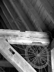 Charlotte's Web (jadedirishgryphon) Tags: metalwork metalsculpture bw bookwormgardens sheboygan wisconsin