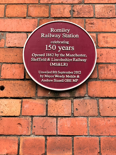 Romiley railway station celebrating 150 years Opened 1862 by the Manchester, Sheffield & Lincolnshire Railway (MS&LR)