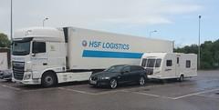 Holidays (andreboeni) Tags: daf camion truck lorry camions trucks jaguar xf sportbrake xfs caravan
