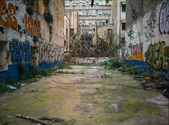 Athens, Greece. (wojszyca) Tags: fuji gsw680iii 6x8 120 mediumformat fujinon sw 65mm fujichrome astia 100f rap epson v800 city urban decay backyard alley athens greece