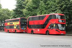 CT Plus 2541 YX19ORS ((HK), 26), Metroline VWH2095 LK15CWT (HT11, 4) (andrewcolebourne) Tags: london londonbus transportforlondon waterlooroad metroline hollowaygarage ht volvo b5lh wright gemini route4 ctplus dennis alexander enviro400 city ashgrovegarage hk route26 2541 yx19ors vwh2095 lk15cwt