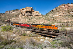Whiffs of the Grande (Wheelnrail) Tags: bnsf santa up burlington train pacific union trains fe northern provo subdivision castle price river soldier utah ut gate ge freight manifest blue sky mountain rio rock grande sunny denver canyon