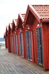Boathouses on the westcoast of sweden (Paula_O) Tags: sweden westcoast summer red boathouses boathous