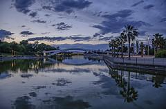 Los puentes del Juan Carlos (Alcides Jolivet) Tags: jci madrid sunset nubes