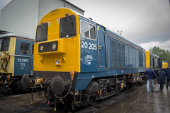 All Change (DM47744) Tags: class 20 20205 english electric type 1 train trains diesel engine track loco railway railways crewe open day all change 2019 br british rail blue locomotive heritage classic traction transport group preservation preserved diesels d3100 nikon railroad chopper
