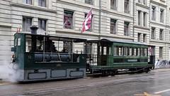 Bern Steam Tram (velodenz) Tags: velodenz holiday vacation vacances urlaub trip travel voyage voyager berneroberland bernesehighlands bern berne canton jungfrauregion alps alpes alpen alpi mountains switzerland suisse svizzera svizra fujifilmx100f steam tram