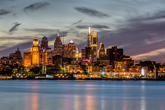 Phillytown looking SHARP... (PhillymanPete) Tags: other delawareriver water city cityscape longexposure philadelphia clouds lights camdenwaterfront urban river philly nightphotography worldcity skyscraper travel skyline visitphilly cityofbrotherlylove nikon d800e