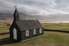 Little Black Church, Iceland (dansijones) Tags: church little black iceland djimavicpro drone landscape outdoors mountains sky sea clouds nature lightroomm