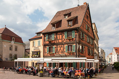 Restaurant Pfeffel in Colmar, France (Jill Clardy) Tags: cruise europe rhine viking river 201905299l8a4118edit colmar restaurant architecture hautrhin france pfeffel alsace timber framed half timbered