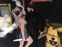 #166 - Dangerous Games (by Blog: Male Fashion Modern) Tags: joplino quinnposes pose photo catwa hipsterstyle breackout games woman men backdrop secondlife
