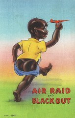 Black Americana, Racism, Stereotype, Air Raid and Blackout, WWII (photolibrarian) Tags: blackamericana racism stereotype airraidandblackout wwii