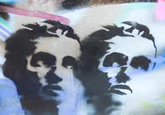 No Tears Fall When You Have Empty Eyes (Steve Taylor (Photography)) Tags: graphic stencil streetart black blue pink brown contrast mauve sad ladies women uk gb england greatbritain unitedkingdom london