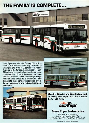 1989 New Flyer Galaxy D60 Articulated Bus