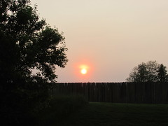 Last sunset of May (creed_400) Tags: belmont west michigan may spring sunset sun fence dusk