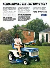 1984 Ford Yard Tractor USA Original Magazine Advertisement (Darren Marlow) Tags: 1 4 8 9 19 84 1984 f ford y yard t tractor l lawn m mower g grass garden v vehicle u s us usa united states american america 80s