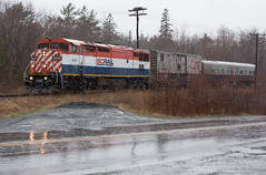 TEST Train in the Rain - Windsor Junction, NS (CWentzell Photography) Tags: bcol cowl c408m motivepower locomotive engine test canon photography adobe adobelightroom dash8 britishcolumbiarailway cn canadiannational dartmouthsub dartmouth windsorjunction april 2019 rain train track freight novascotia canada