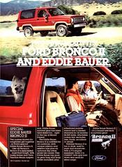 1984 Ford Special Eddie Bauer Bronco II 3 Door Wagon USA Original Magazine Advertisement (Darren Marlow) Tags: 1 4 8 9 19 84 1984 f ford b bronco i ii e eddie bauer s special c car cool collectible collectors classic a automobile v vehicle u us usa united states american america 80s