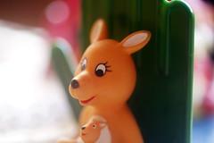 Kangoo du Manège enchanté (Christian Chene Tahiti) Tags: orange game colour macro rose canon rouge bokeh vert collection kangaroo tahiti paea hmm couleur closer jeu texasinstruments 6d kangourou childhoodtoys manègeenchanté macromondays closeup blanc animal