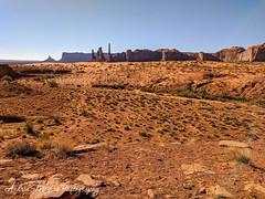 The Totem Pole and Yei Bi Chei, Monument Valley, Arizona (Andrea Meyers) Tags: 2018 organrockshale sunrise mesas theviewhotel june25 navajotriballands arizona monumentvalley cutlerformation dechellysandstone sandstone