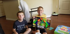 Opening Gifts (heytampa) Tags: paxton hey gifts presents birthday conner nerfgun