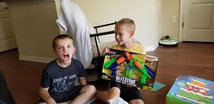 Opening Gifts (heytampa) Tags: paxton hey gifts presents birthday nerfgun