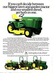 1984 John Deere 420 Lawn Garden Troctors 650 CompacM Mower t Utility Diesel USA Original Magazine Advertisement (Darren Marlow) Tags: 1 2 4 5 6 8 9 19 84 1984 420 650 j john d deere l lawn m mower g garden t tractor a automobile v vehicle u s usa us american america 80s