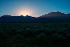 good morning. (M///S///H) Tags: morning mountain mountains pointandshoot range sagebrush sangredecristo sonyrx1 sunbeam sunrise