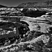 Kachina Bridge and a View Across Natural Bridges National Monument (Black & White)