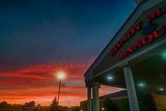 A Shady Sunset (tquist24) Tags: amish hdr nikon nikond5300 outdoor pennsylvania shadymaple shadymaplesmorgasbord buffet clouds evening geotagged outside restaurant sunset