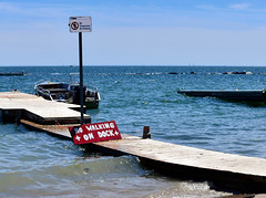 No walking on dock please (mrsparr) Tags: activeassignmentweekly water lakeontario toronto
