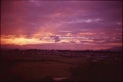 (✞bens▲n) Tags: leica m4 velvia iso50 rokkor 40mm f2 film analogue slide landscape rice fields japan nagano sunset evening sky