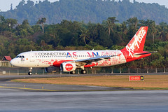 AirAsia Airbus A320-214 9M-AHX Connecting ASEAN livery (EK056) Tags: airasia airbus a320214 9mahx connecting asean livery langkawi international airport