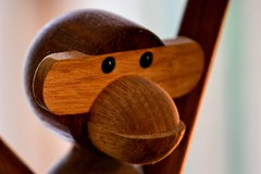 Little Wooden Monkey (helensaarinen) Tags: macromondays childhoodtoys