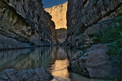 Looking Upstream in the Santa Elena Canyon (HDR, Big Bend National Park)