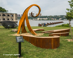 Wavehenge Sculpture (2017-2019) by Damon Hamm and Jeff Sundheim, Riverside Park, Hamilton Heigths, New York City (jag9889) Tags: 07020 1055riverroad 1077riverroad 2019 20190607 admiralswalk apartment art artwork artist bergencounty condominium edgewater gardenstate hamiltonheights harlem hudsonriver kunst manhattan modeltomonument nj ny nyc nycparks newjersey newyork newyorkcity newyorkcitydepartmentofparksrecreation outdoor park people plastik publicart publicpark residence river riversidepark sculpture skulptur steel streetart usa unitedstates unitedstatesofamerica water waterfront waterway jag9889 zip07020
