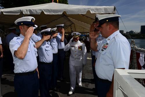 Coast Guard Cutter Steadfast Change of Command Rose Festival 2019